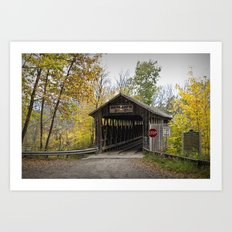 Whites Covered Bridge in Michigan Art Print