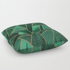 Emerald and Copper Floor Pillow