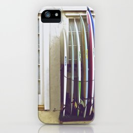 Surf Shop Hawaii Surfer Photography iPhone Case