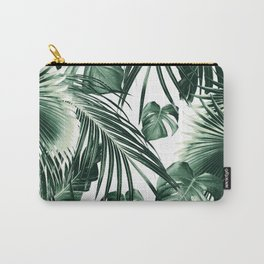 Tropical Jungle Leaves Dream #7 #tropical #decor #art #society6 Carry-All Pouch