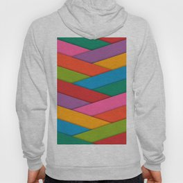 Abstract Colorful Decorative 3D Striped Pattern Hoody