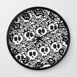 Pile of Skulls Wall Clock