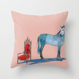 animals with chairs #1 The argument Throw Pillow