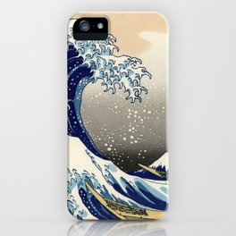 Katsushika Hokusai, The Great Wave off Kanagawa, 1831 iPhone Case