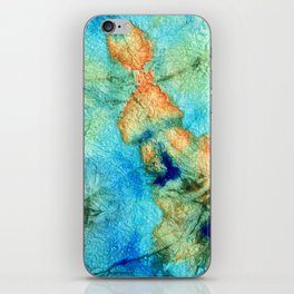 Blue And Orange Abstract - Time Dance - Sharon Cummings iPhone Skin