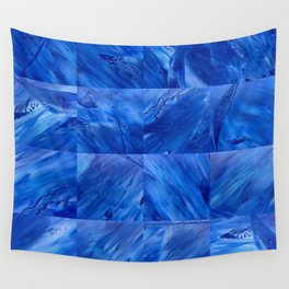 blues en tous sens / square blues Wall Tapestry