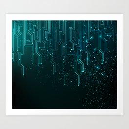 Aqua Tech Art Print