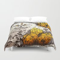 witchcraft Duvet Covers featuring Witchcraft by Angela Rizza
