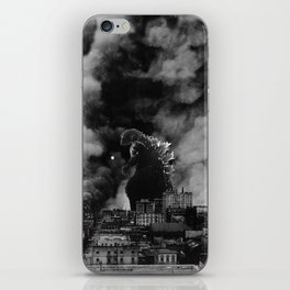 Old Time Godzilla San Francisco Fire iPhone Skin