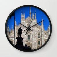 milan Wall Clocks featuring Milan by Kallian