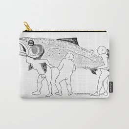 Naked Guys with a Trout Carry-All Pouch