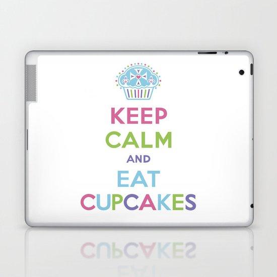 Keep Calm and Eat Cupcakes Laptop & iPad Skin