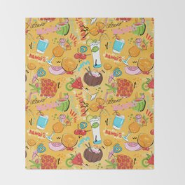Tropical Libations Throw Blanket