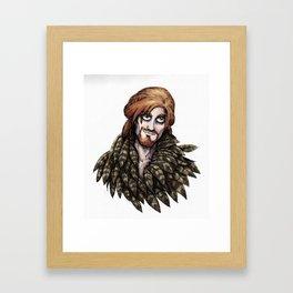Loki in Freyja's Cloak Framed Art Print