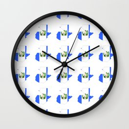 Flag of Guatemala 4-Guatemalan,Mixco,Villa Nueva,Petapa,tropical,central america,spanish,latine Wall Clock
