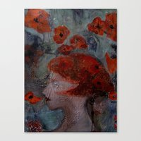 imagerybydianna Canvas Prints featuring somnia by Imagery by dianna