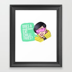 Does a Mall  Framed Art Print