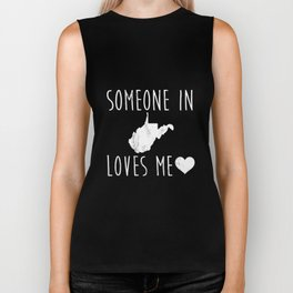 Someone in West Virginia Loves Me! TShirt Cute State Gift Biker Tank