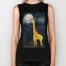 What the moon tastes like? (Giraffe and Moon) Biker Tank