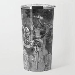 Tour De France - Vintage Photograph Cigarette Break Travel Mug