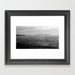 DOLPHIN MEETS MAN Framed Art Print