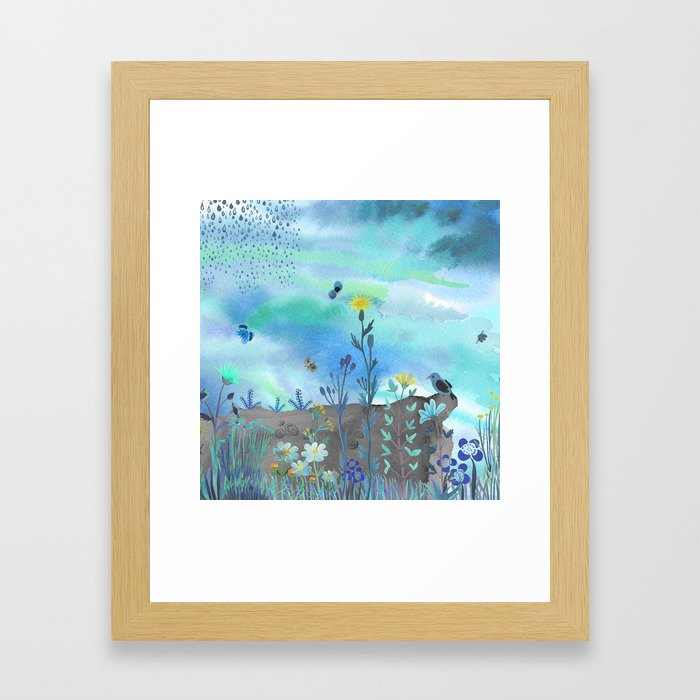 Blue Garden I Framed Art Print