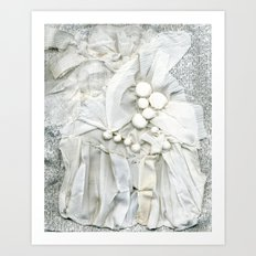 White on White  Art Print