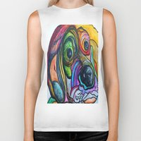 the hound Biker Tanks featuring Hound Dog by EloiseArt