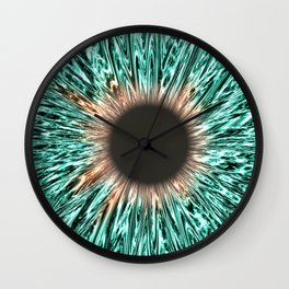 The Blue-Green Iris Wall Clock