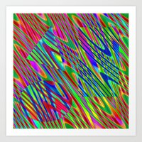 Swirly Shapes Art Print