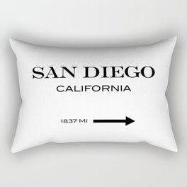 San Diego - California Rectangular Pillow