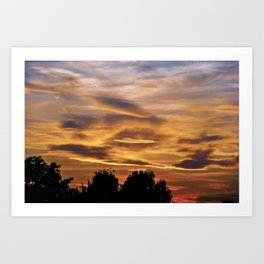 SUNSET MEDITATION #001 BY CAMA ART Art Print