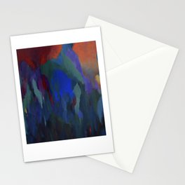 Blue Musings with Scarlet at 3 AM Stationery Cards