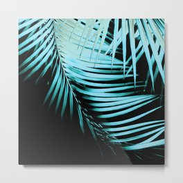 Palm Leaves Summer Night Vibes #1 #tropical #decor #art #society6 Metal Print