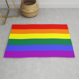 Gay pride flag Rug