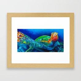 Early Riser - Sea Turtle Framed Art Print