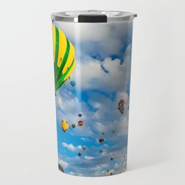 Vibrant Hot Air Balloons Travel Mug