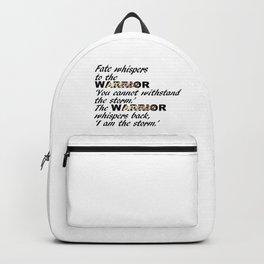 Fate Whispers Black Backpack