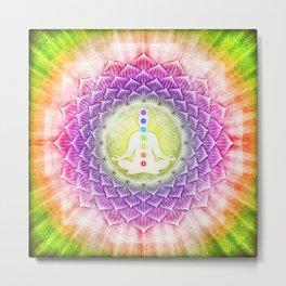 In Meditation With Chakras I Metal Print