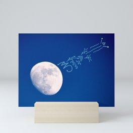 Light language from the moon Mini Art Print