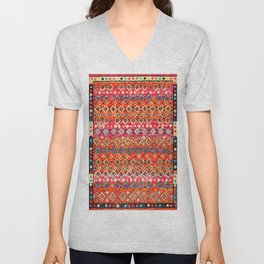Bohemian Traditional Tropical Moroccan Style Illustration Unisex V-Neck