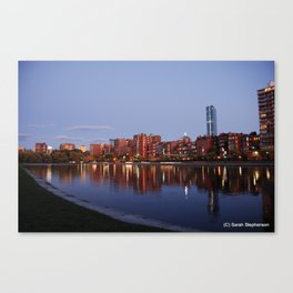 Boston Skyline at Sunset Canvas Print