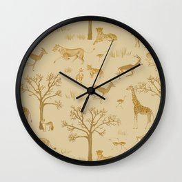 Safari in the Serengeti Wall Clock