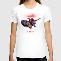 evangelion T-shirts featuring Evangelion Unit 01 - Rebuild of Evangelion 3.0 Movie Poster by Barrett Biggers