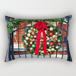Wreath On The Gate Rectangular Pillow