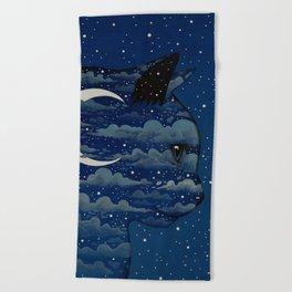 LUNA CAT by Raphaël Vavasseur Beach Towel