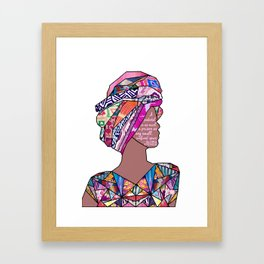 Woman in Colors - 7 - A pedestal is as much a prison as any small, confined space. Framed Art Print