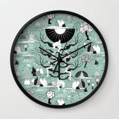 The six princesses (Celadon) Wall Clock