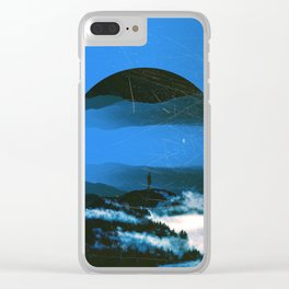 BLUE MORNING Clear iPhone Case