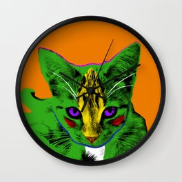 Loli Shriek Orange Wall Clock